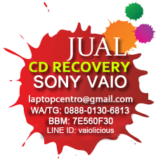 CD Recovery untuk notebook Sony VAIO
